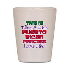 Puerto Rican Princess Shot Glass