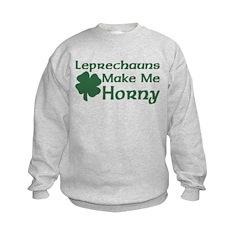 Leprechauns Make Me Horny Kids Sweatshirt