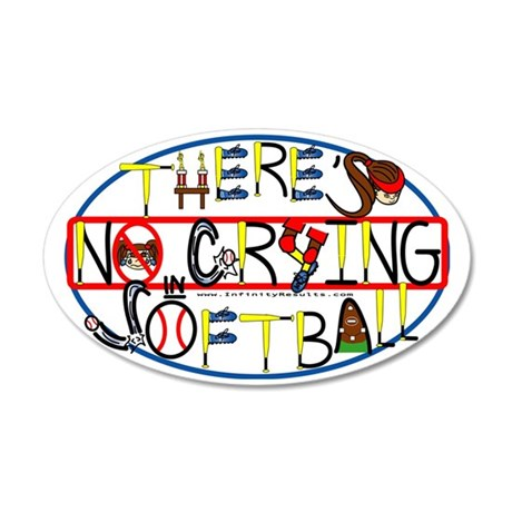 TheresNoCrying2012 35x21 Oval Wall Decal