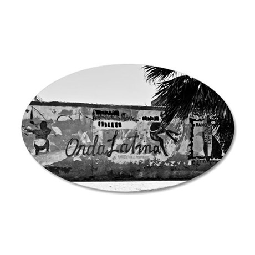 ORDA LATINOI , BW 35x21 Oval Wall Decal