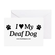 Love My Deaf Dog Greeting Cards (Pk of 10)