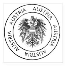 "austria4 Square Car Magnet 3"" x 3"""