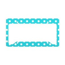 teal-polkadot-shoulder-bag License Plate Holder