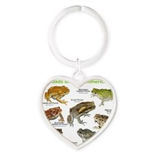 Toads of North America Heart Keychain