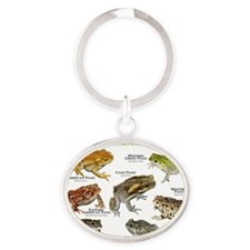 Toads of North America Oval Keychain