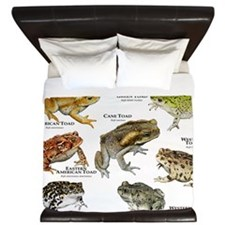 Toads of North America King Duvet