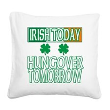 hungoverwhite Square Canvas Pillow