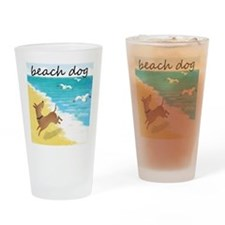 beach-dog-1729 Drinking Glass