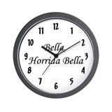 &quot;Bella, Horrida Bella&quot; Wall Clock