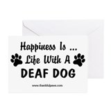 Life With a Deaf Dog Greeting Cards (Pk of 10)