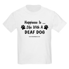 Life With a Deaf Dog Kids T-Shirt