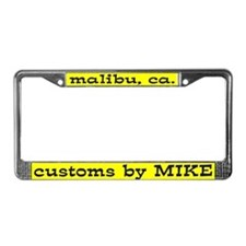 Customs by Mike License Plate Frame