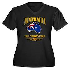 Land Down Un Women's Plus Size Dark V-Neck T-Shirt