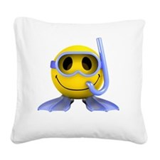 3d-smiley-scuba Square Canvas Pillow