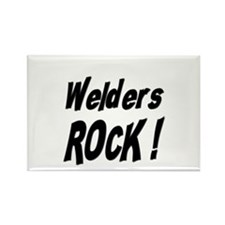 Welders Rock ! Rectangle Magnet (10 pack)