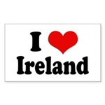 I Heart Ireland Love Rectangle Sticker