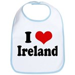 I Heart Ireland Love Bib