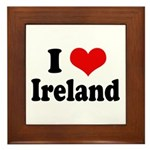 I Heart Ireland Love Framed Tile