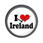 I Heart Ireland Love Wall Clock