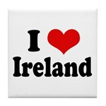 I Heart Ireland Love Tile Coaster