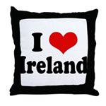I Heart Ireland Love Throw Pillow