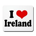 I Heart Ireland Love Mousepad