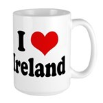 I Heart Ireland Love Large Mug