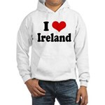 I Heart Ireland Love Hooded Sweatshirt