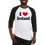 I Heart Ireland Love Baseball Jersey