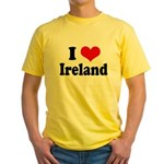 I Heart Ireland Love Yellow T-Shirt