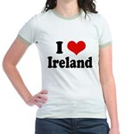 I Heart Ireland Love Jr. Ringer T-Shirt