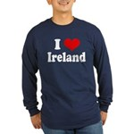 I Heart Ireland Love Long Sleeve Dark T-Shirt