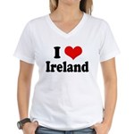 I Heart Ireland Love Women's V-Neck T-Shirt