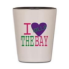 I Love The Bay (Purp).gif Shot Glass