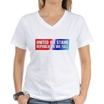 United we stand Republican we Women's V-Neck T-Shi
