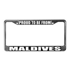 Maldives License Plate Frame