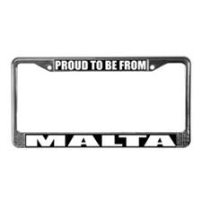 Malta License Plate Frame