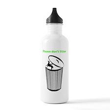 2LDAR_dontlitter_front Water Bottle