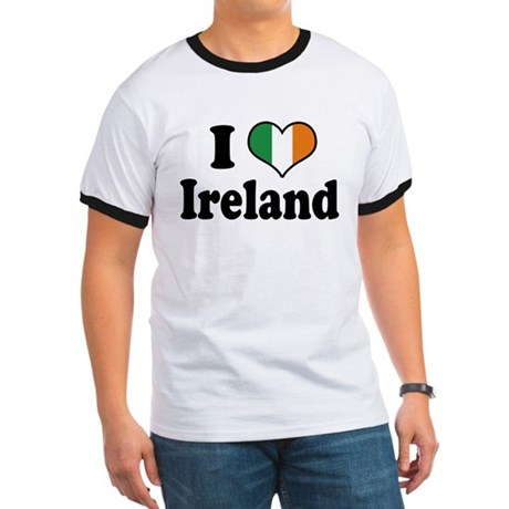 I Love Ireland Tricolor Ringer T
