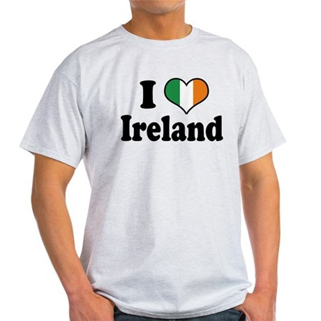 I Love Ireland Tricolor Light T-Shirt