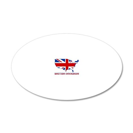 UK INVASION (US ma 20x12 Oval Wall Decal