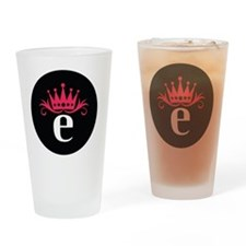 Estro_button Drinking Glass