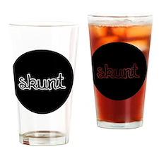 Skunt_button Drinking Glass