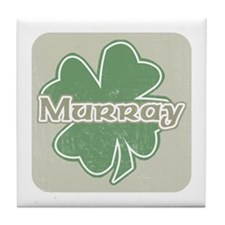 """Shamrock - Murray"" Tile Coaster"