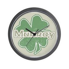 """Shamrock - Murray"" Wall Clock"