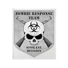 Zombie Response Team Spokane Throw Blanket