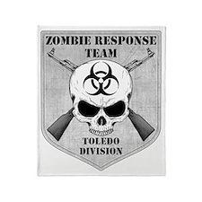 Zombie Response Team Toledo Throw Blanket