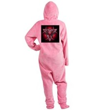 Triple Goddess - red - banner Footed Pajamas