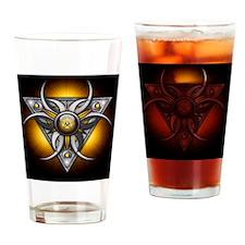 Triple Goddess - yellow - stadium b Drinking Glass