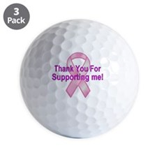 Thank You/Support - Breast Cancer Golf Ball